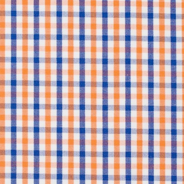 コットン×チェック(オレンジ&ブルー)×ブロード_全2柄 イメージ1