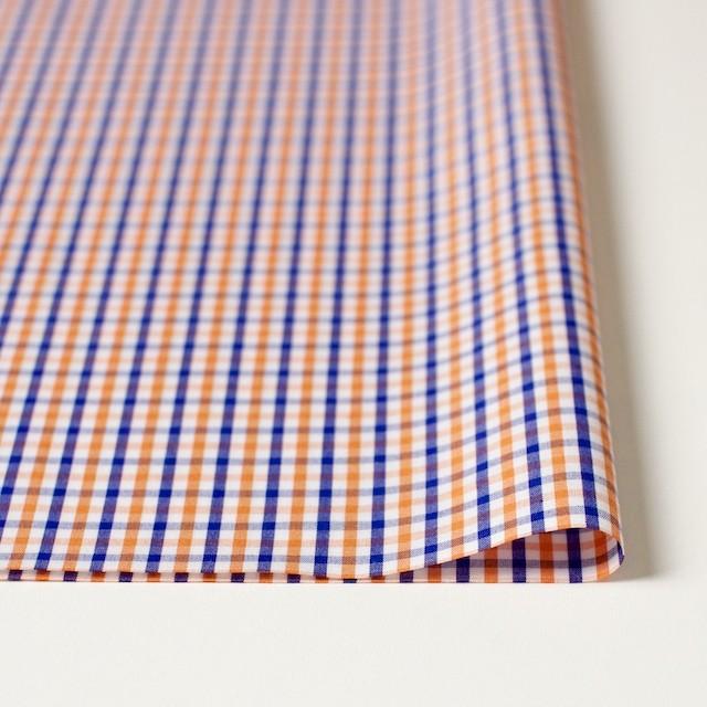 コットン×チェック(オレンジ&ブルー)×ブロード_全2柄 イメージ3