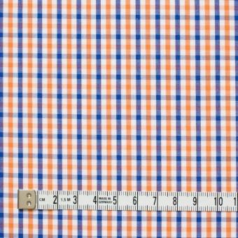 コットン×チェック(オレンジ&ブルー)×ブロード_全2柄 サムネイル4