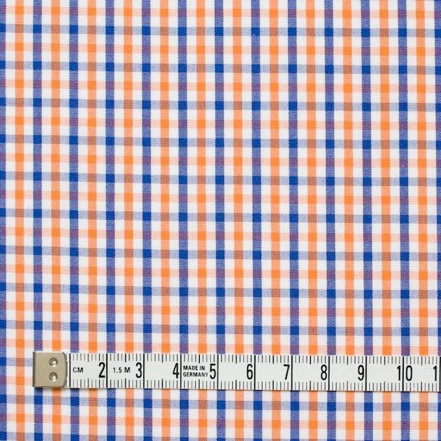 コットン×チェック(オレンジ&ブルー)×ブロード_全2柄 イメージ4