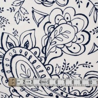 コットン&リネン×ペイズリー(オフホワイト)×シーチング_全2色 サムネイル4