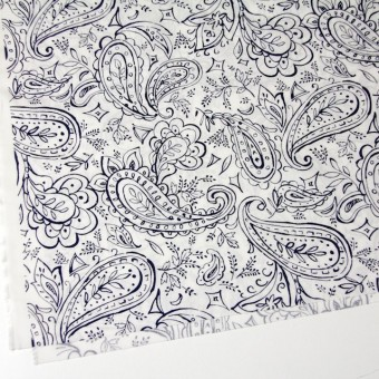 コットン&リネン×ペイズリー(オフホワイト)×シーチング_全2色 サムネイル2