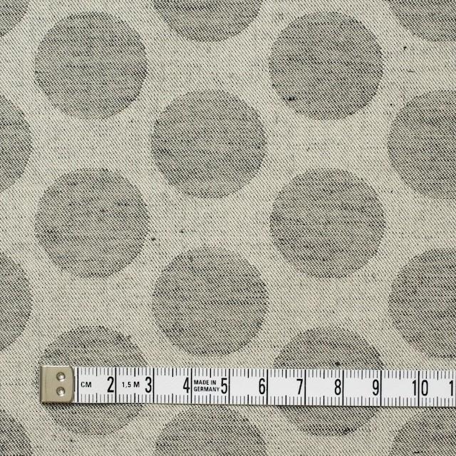 コットン×水玉(ベージュ&チャコールグレー)×サージジャガード イメージ4