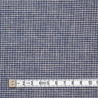 コットン×チェック(ネイビー)×千鳥格子 サムネイル4