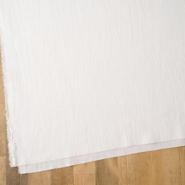 キュプラ&シルク×無地(オフホワイト)×ボイルジャガード イメージ2