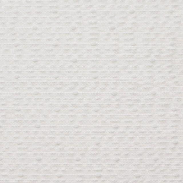 コットン&ポリエステル×ボーダー(オフホワイト)×コードレーン イメージ1