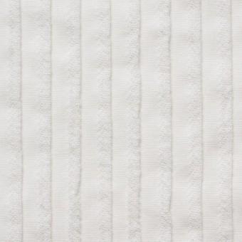 コットン×ストライプ(オフホワイト)×シーチングピンタック サムネイル1