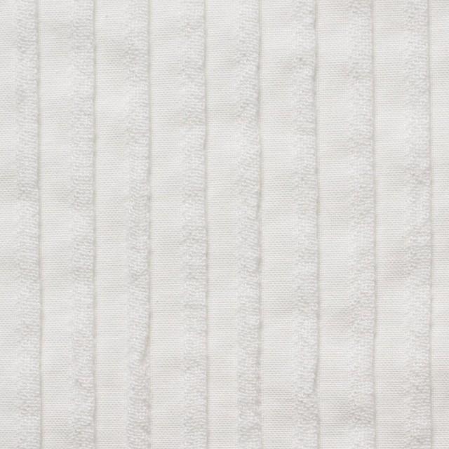 コットン×ストライプ(オフホワイト)×シーチングピンタック イメージ1