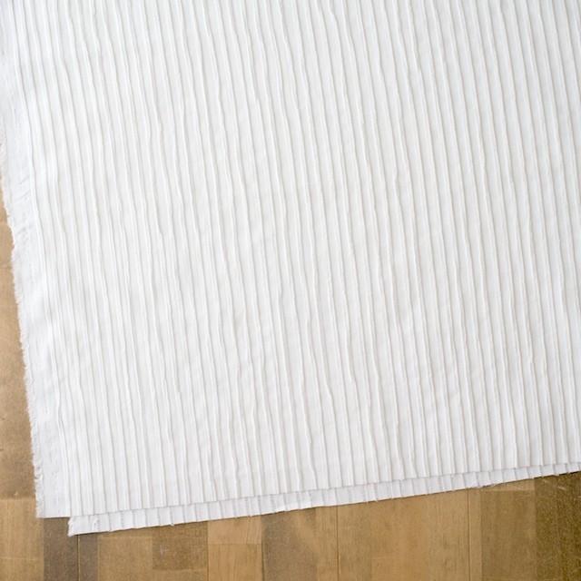 コットン×ストライプ(オフホワイト)×シーチングピンタック イメージ2