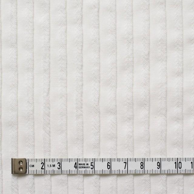 コットン×ストライプ(オフホワイト)×シーチングピンタック イメージ4