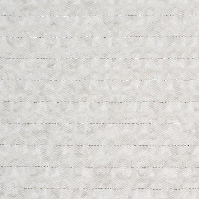 ポリエステル&コットン×チェック(オフホワイト)×サッカー イメージ1
