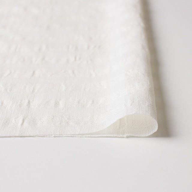 コットン&キュプラ×チェック(キナリ)×からみ織 イメージ3