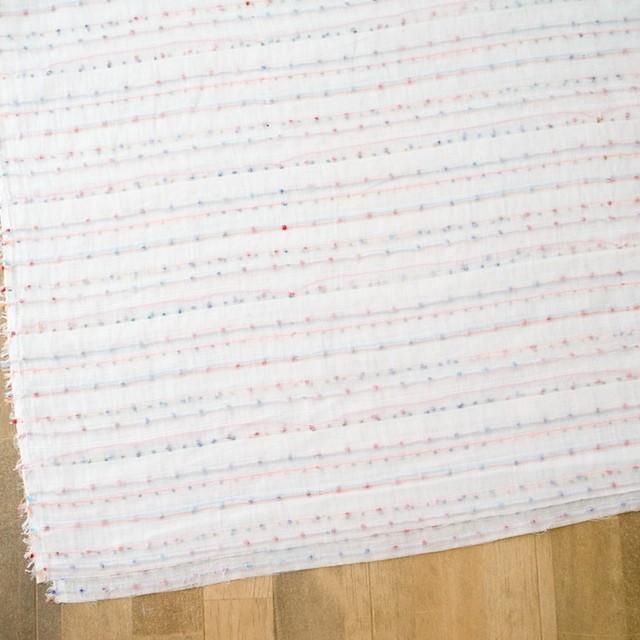 コットン&ポリエステル×ボーダー(ピンク&オレンジ)×Wガーゼ_全4色 イメージ2