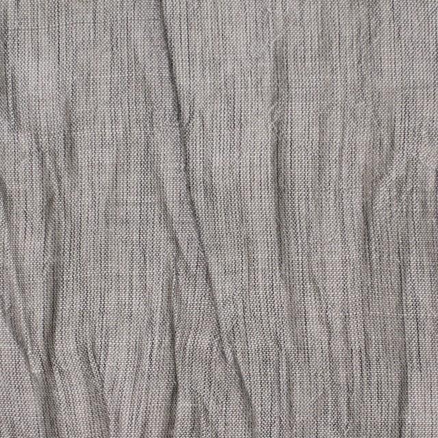 コットン&リネン混×無地(グレー)×ボイルワッシャー イメージ1