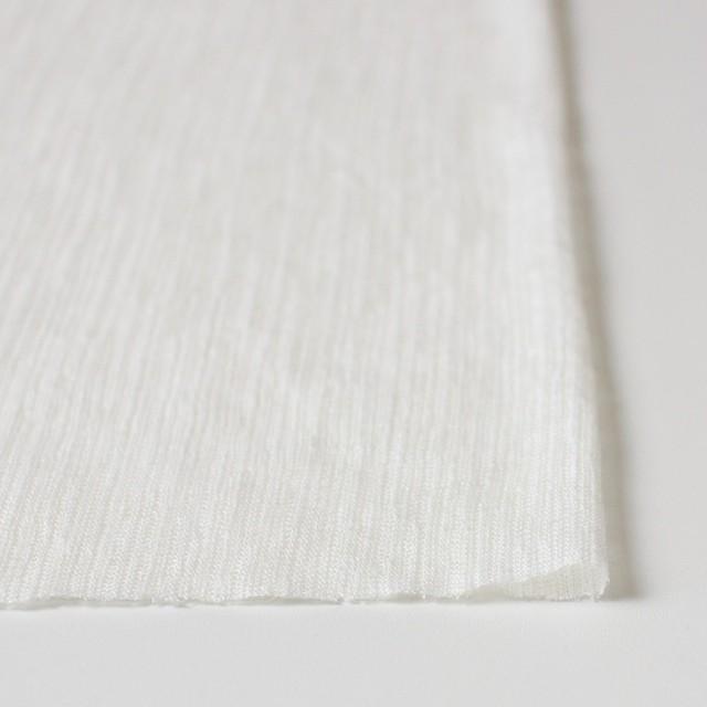 リネン×無地(オフホワイト)×メッシュニット イメージ3