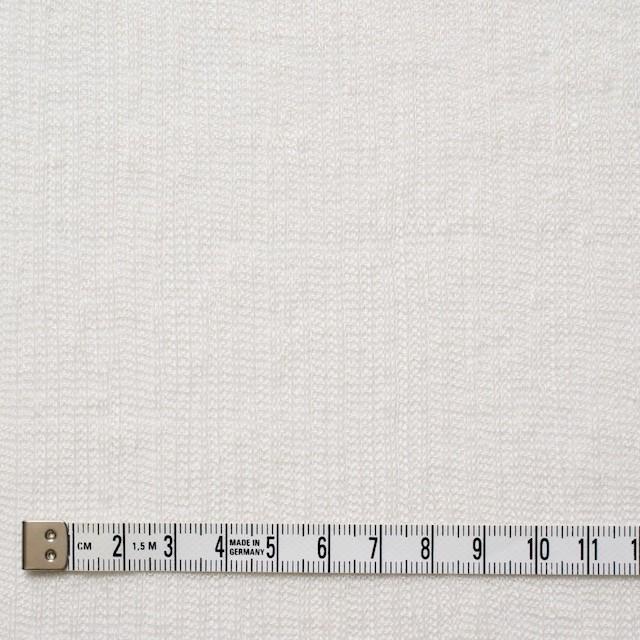 リネン×無地(オフホワイト)×メッシュニット イメージ4