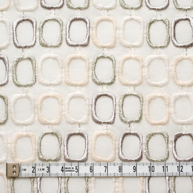 コットン×スクエア(オフホワイト)×ボイル刺繍_全2色 イメージ4