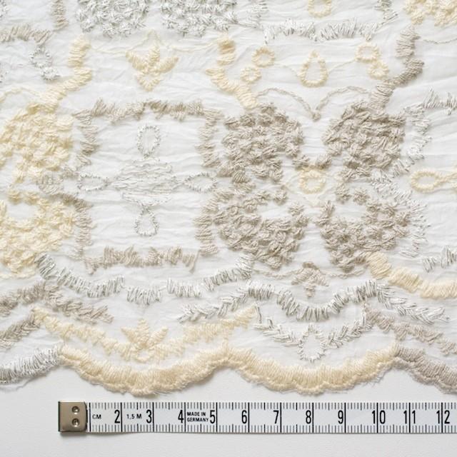 コットン×フラワー(オフホワイト)×ボイル刺繍_全4色 イメージ4