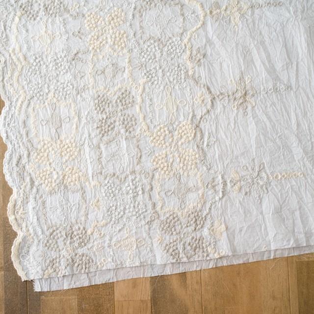 コットン×フラワー(オフホワイト)×ボイル刺繍_全4色 イメージ2
