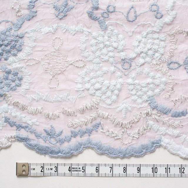 コットン×フラワー(グレイッシュピンク)×ボイル刺繍_全4色 イメージ4
