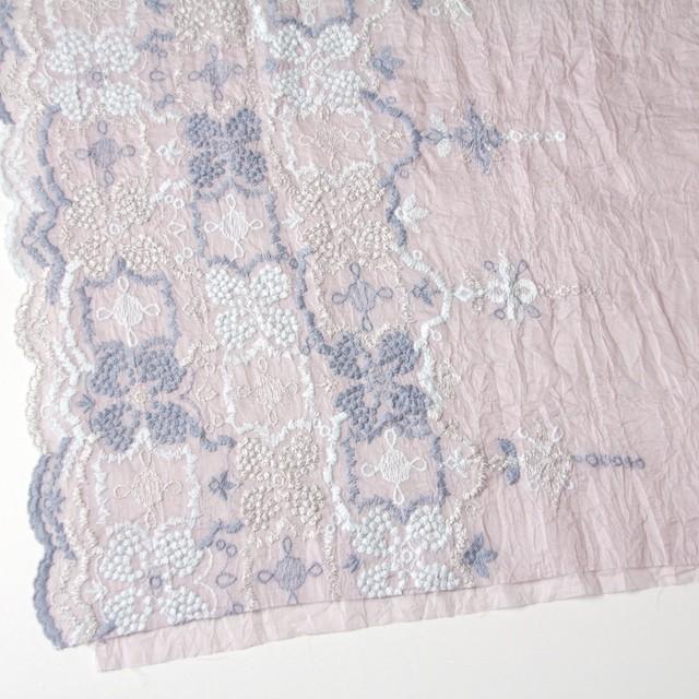 コットン×フラワー(グレイッシュピンク)×ボイル刺繍_全4色 イメージ2