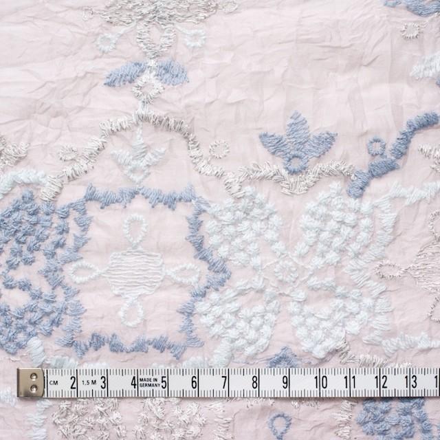 コットン×フラワー(グレイッシュピンク)×ボイル刺繍_全4色 イメージ5