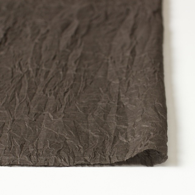 コットン×フラワー(ブラウン)×ボイル刺繍_全4色 イメージ3
