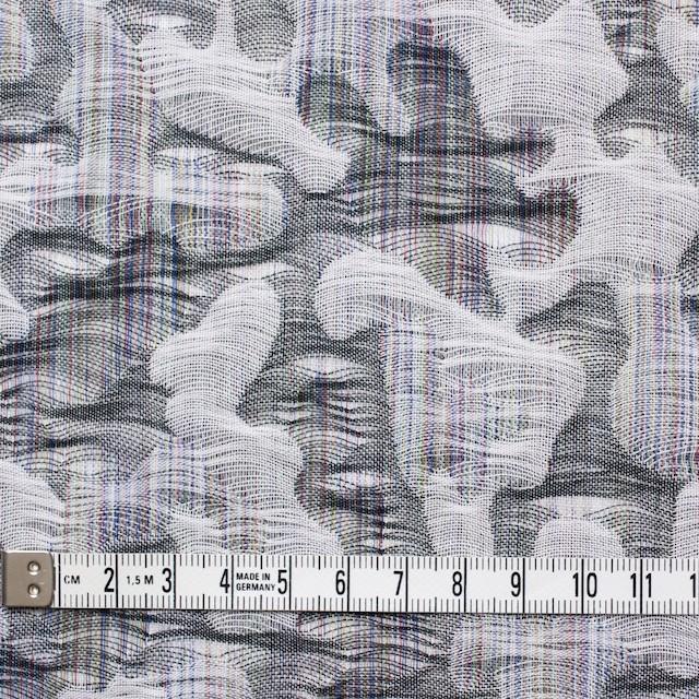コットン×幾何学模様(グレー)×二重織ジャガード_全2色 イメージ5