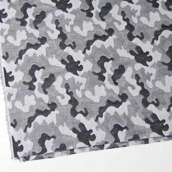 コットン×幾何学模様(ブラック&グレー)×二重織ジャガード サムネイル2