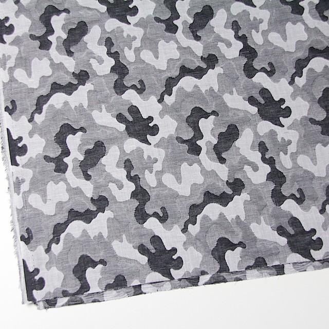 コットン×幾何学模様(ブラック&グレー)×二重織ジャガード イメージ2