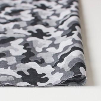 コットン×幾何学模様(ブラック&グレー)×二重織ジャガード サムネイル3