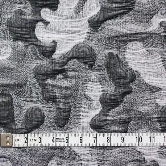 コットン×幾何学模様(ブラック&グレー)×二重織ジャガード サムネイル5
