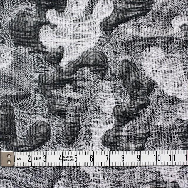 コットン×幾何学模様(ブラック&グレー)×二重織ジャガード イメージ5
