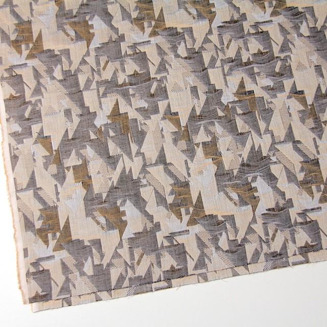 コットン×幾何学模様(モカミックス)×二重織ジャガード イメージ2