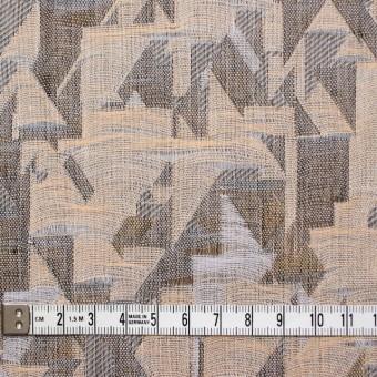 コットン×幾何学模様(モカミックス)×二重織ジャガード サムネイル5