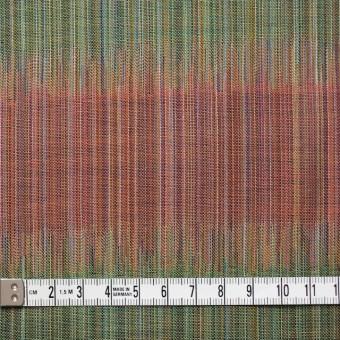 コットン×幾何学模様(オレンジ&グリーン)×二重織ジャガード サムネイル4