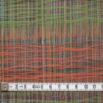 コットン×幾何学模様(オレンジ&グリーン)×二重織ジャガード サムネイル5