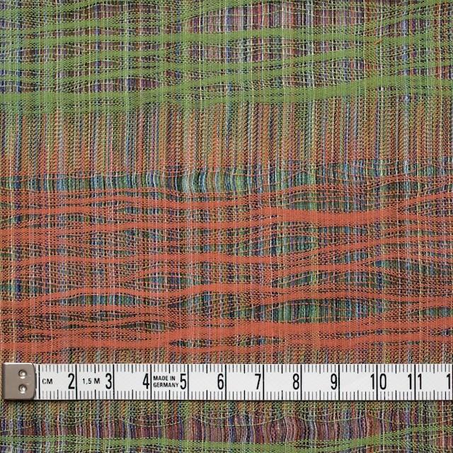 コットン×幾何学模様(オレンジ&グリーン)×二重織ジャガード イメージ5