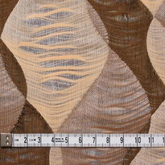 コットン×幾何学模様(ブラウンミックス)×二重織ジャガード サムネイル4