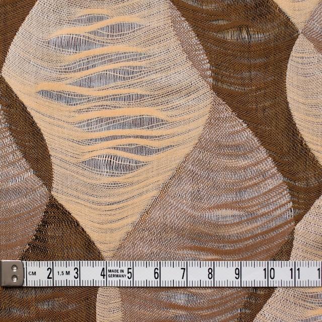 コットン×幾何学模様(ブラウンミックス)×二重織ジャガード イメージ4