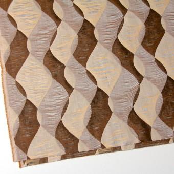 コットン×幾何学模様(ブラウンミックス)×二重織ジャガード サムネイル2