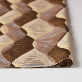 コットン×幾何学模様(ブラウンミックス)×二重織ジャガード サムネイル3