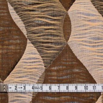 コットン×幾何学模様(ブラウンミックス)×二重織ジャガード サムネイル5