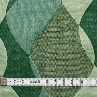 コットン×幾何学模様(グリーンミックス)×二重織ジャガード サムネイル4