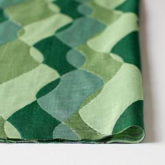 コットン×幾何学模様(グリーンミックス)×二重織ジャガード サムネイル3