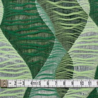 コットン×幾何学模様(グリーンミックス)×二重織ジャガード サムネイル5