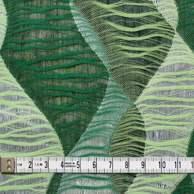 コットン×幾何学模様(グリーンミックス)×二重織ジャガード イメージ5