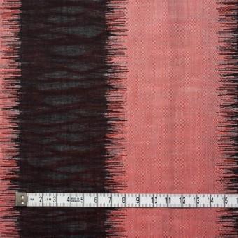コットン×幾何学模様(レッド&ブラック)×二重織ジャガード サムネイル4