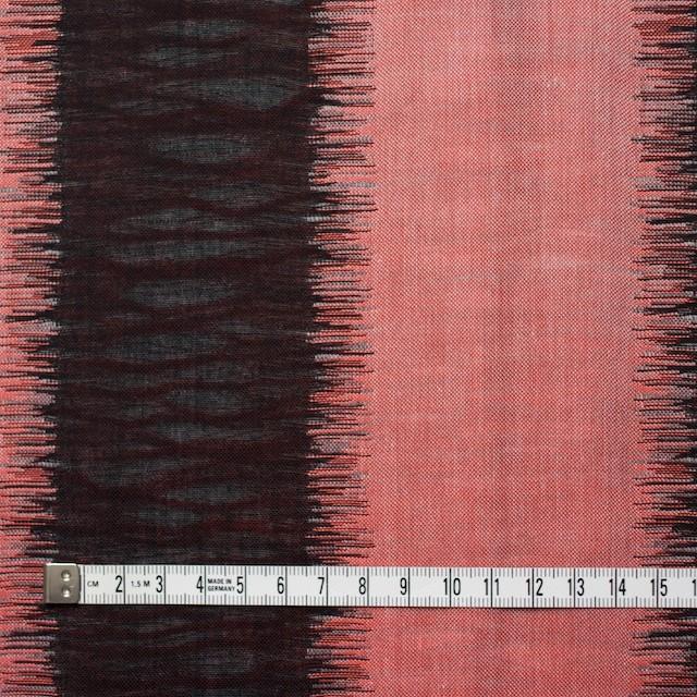 コットン×幾何学模様(レッド&ブラック)×二重織ジャガード イメージ4