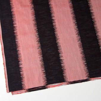 コットン×幾何学模様(レッド&ブラック)×二重織ジャガード サムネイル2